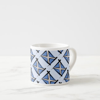 Scotland Brush Flag Espresso Cup