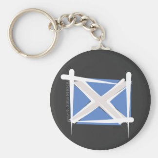 Scotland Brush Flag Keychain