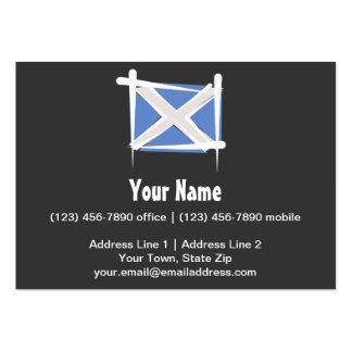 Scotland Brush Flag Large Business Card