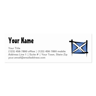 Scotland Brush Flag Mini Business Card
