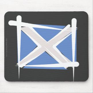 Scotland Brush Flag Mousepad