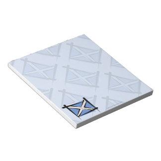 Scotland Brush Flag Notepad