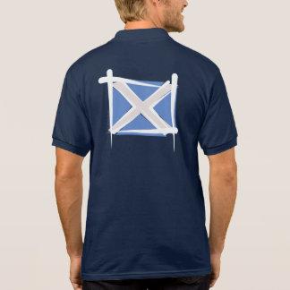 Scotland Brush Flag Polo T-shirts