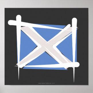 Scotland Brush Flag Print