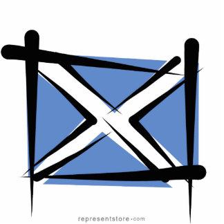 Scotland Brush Flag Statuette
