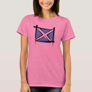 Scotland Brush Flag T-Shirt
