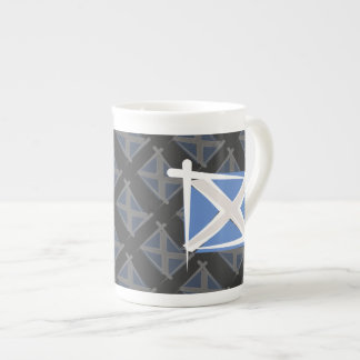 Scotland Brush Flag Tea Cup