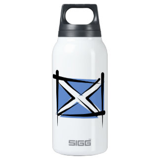 Scotland Brush Flag Thermos Bottle