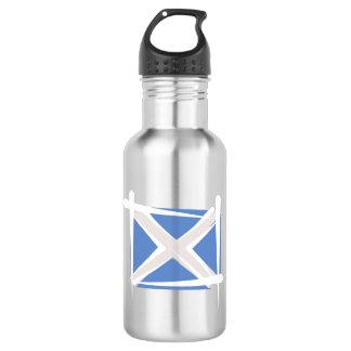 Scotland Brush Flag Water Bottle