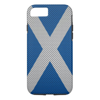Scotland Carbon Fiber Style iPhone 7 Case