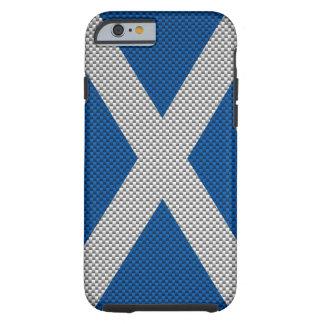 Scotland Carbon Fiber Style Tough iPhone 6 Case
