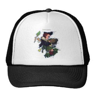 Scotland Caricature Map Trucker Hat