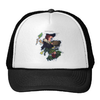 Scotland Caricature Map Trucker Hat