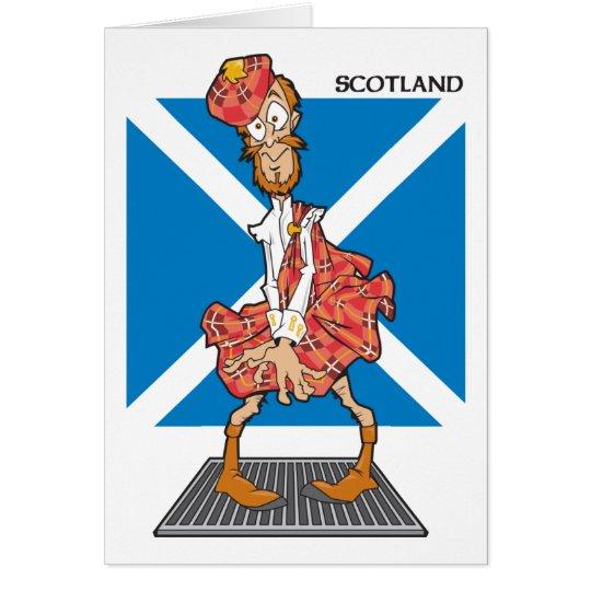 Scotland Cartoon Card
