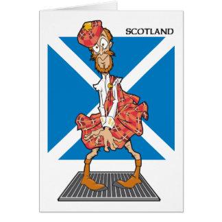 Scotland Cartoon Greeting Card