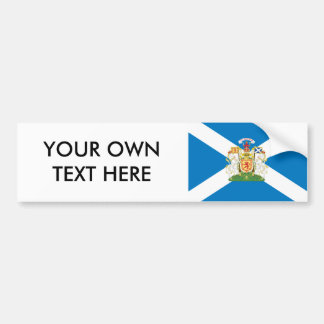 Scotland Coat of Arms and Flag Car Bumper Sticker
