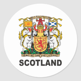 Scotland Coat Of Arms Classic Round Sticker