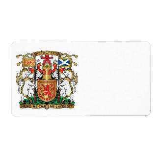 Scotland coat of arms label