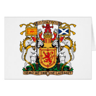 Scotland Coat of Arms large Greeting Card