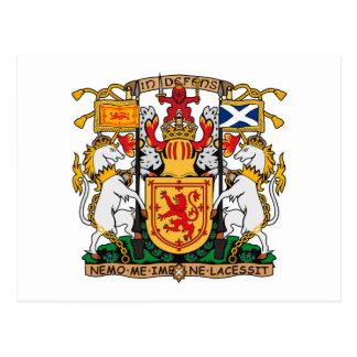 Scotland Coat of Arms large Postcard