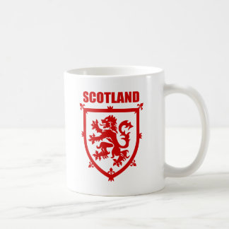 Scotland Coat of Arms Lion Emblem Coffee Mug, Red Coffee Mug