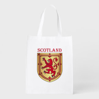 Scotland coat of arms reusable grocery bag