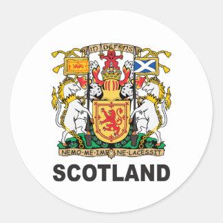 Scotland Coat Of Arms Round Sticker