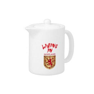 Scotland coat of arms teapot