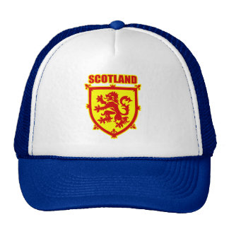 Scotland Coat of Arms with Lion Rampant Cap