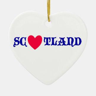 Scotland coils ceramic ornament