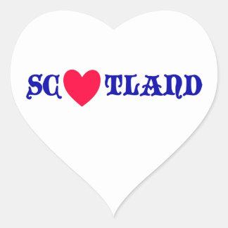 Scotland coils heart sticker