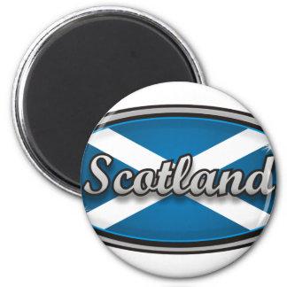 Scotland flag 1 2 inch round magnet