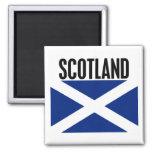 Scotland Flag 2 Inch Square Magnet