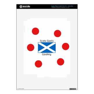 Scotland Flag And Scots Gaelic Language Design Skins For iPad 3