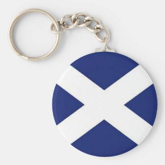 SCOTLAND FLAG BASIC ROUND BUTTON KEYCHAIN