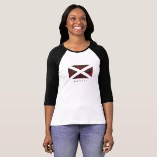 Scotland Flag (black text) - Front T-Shirt