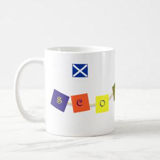 Scotland Flag Bunting Mug