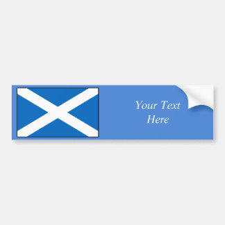 Scotland Flag Car Bumper Sticker