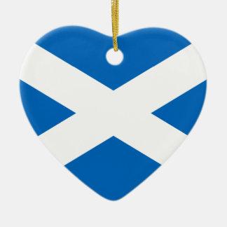 Scotland Flag Ceramic Ornament