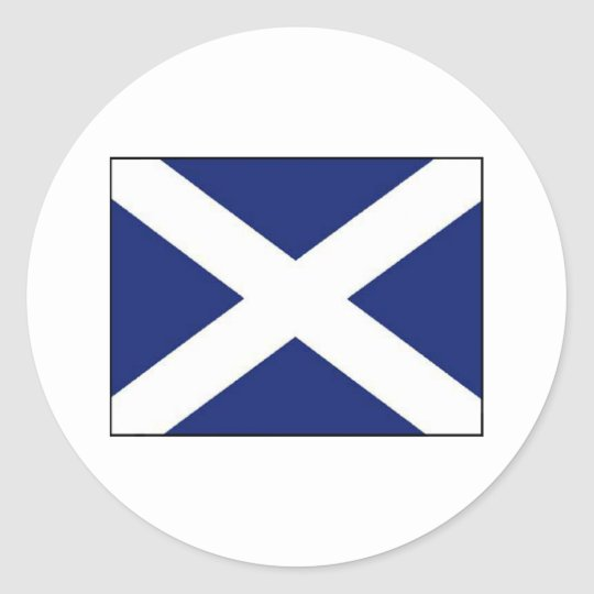 SCOTLAND FLAG CLASSIC ROUND STICKER