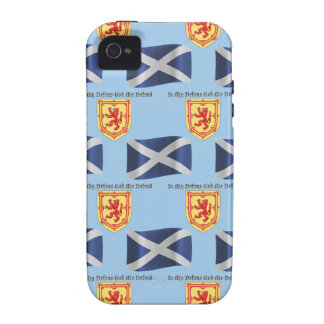 Scotland Flag Crest and Motto Vibe iPhone 4 Cover