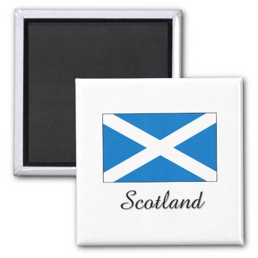 Scotland Flag Design 2 Inch Square Magnet