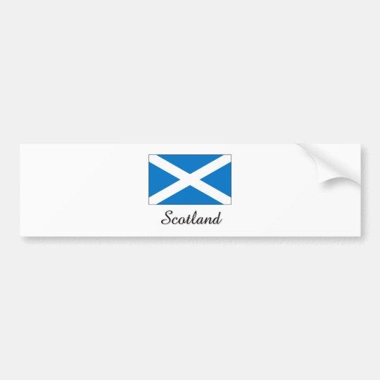 Scotland Flag Design Bumper Sticker