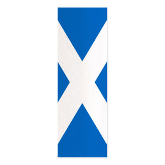 Scotland Flag Design Mini Business Card