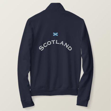Scotland Flag Embroidered Jacket