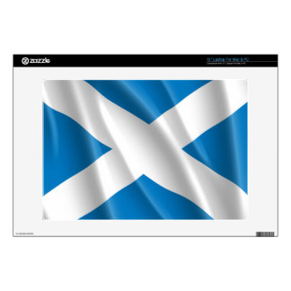 """SCOTLAND FLAG FLYING DECALS FOR 13"""" LAPTOPS"""