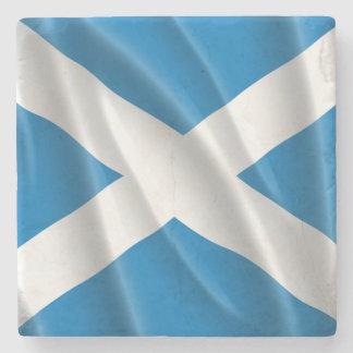 SCOTLAND FLAG FLYING STONE COASTER