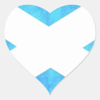 Scotland Flag Heart Sticker