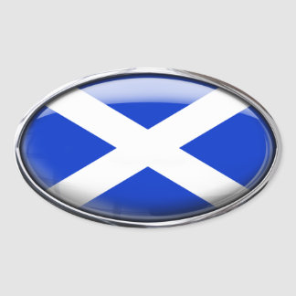 Scotland Flag in Glass Oval (pack of 4) Oval Sticker