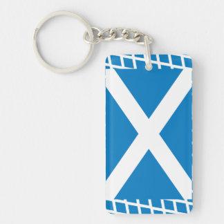 Scotland Flag Single-Sided Rectangular Acrylic Keychain